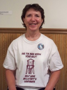 Linda Lehr is an officer with the Friends of the Old Millstadt Water Tower.